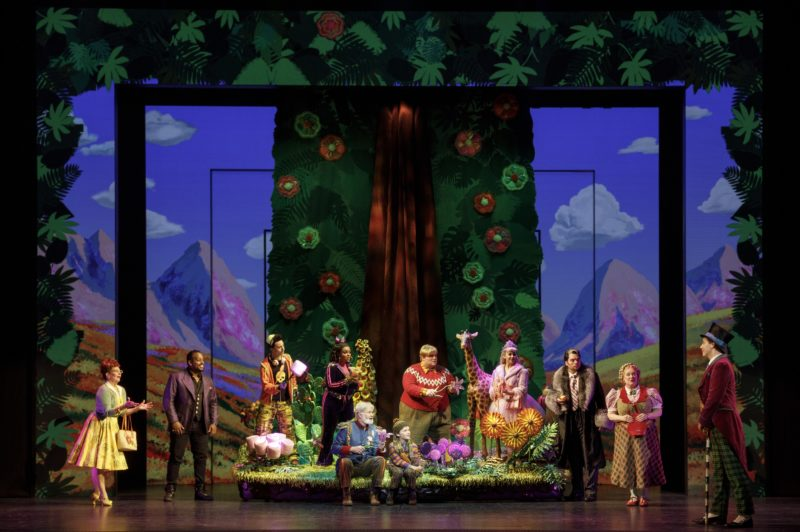 """Willie Wonka leads the group into the chocolate room and sings """"Pure Imagination."""""""