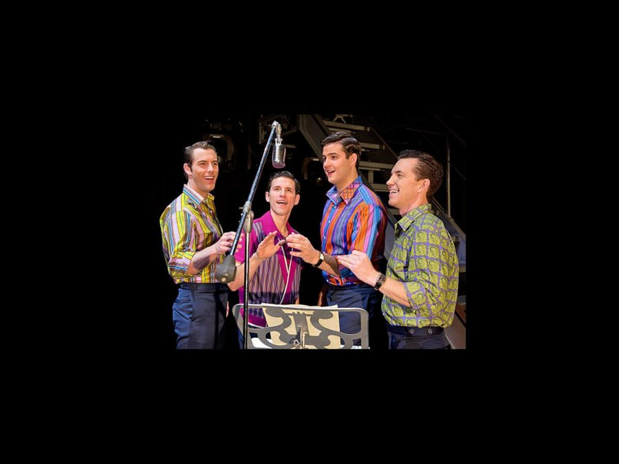 PS - Jersey Boys - tour 1 - Michael Lomenda - Nick Cosgrove - Miles Jacoby - John Gardiner - wide - 11/12