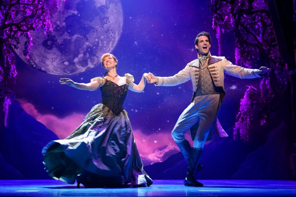 HS - Patti Murin (Anna) and John Riddle (Hans) in Frozen - 9/17 -Deen van Meer