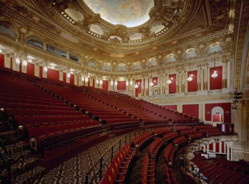 The interior layout of the Boston Opera House in the Mezzanine Section.