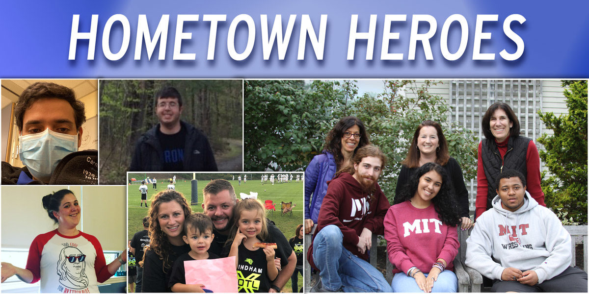 Hometown Heroes header graphic with collage of photos of contest winners